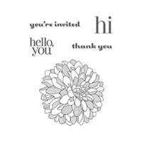Regarding Dahlias Clear Stamp Set