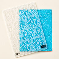 Beautifully Baroque Textured Impressions Embossing Folder