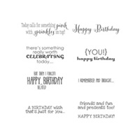 Remembering Your Birthday Wood Stamp Set