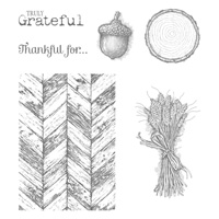 Truly Grateful Wood Stamp Set