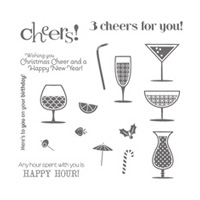 Happy Hour Wood Stamp Set