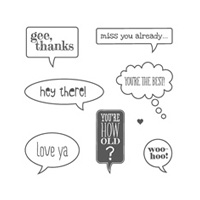 Just Sayin' Clear Stamp Set