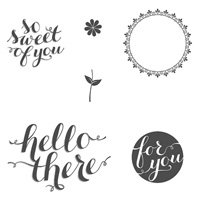 Hello There Wood-Mount Stamp Set
