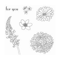 Forever Florals Wood-Mount Stamp Set